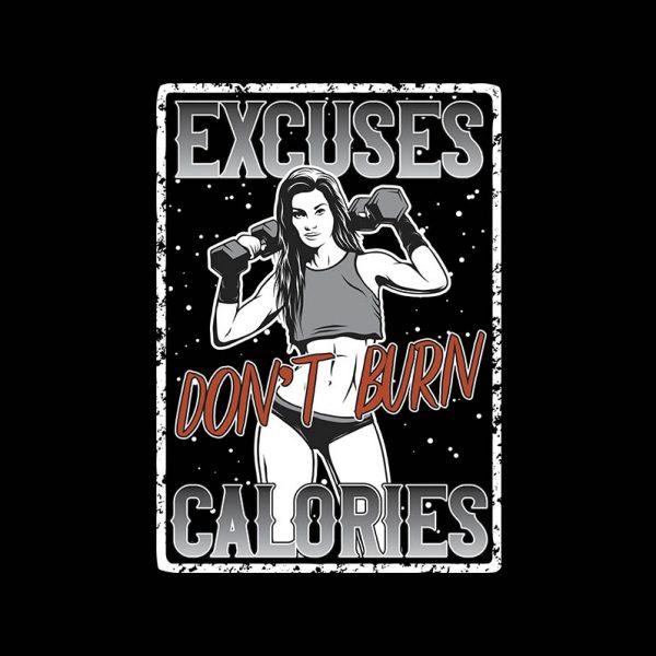 """חולצה מודפסת לאשה """"Excuses"""""""