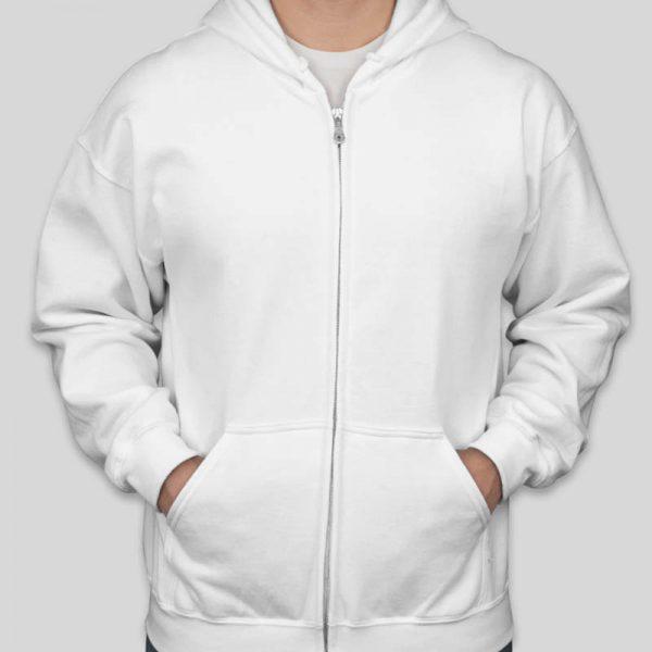 קפוצון רוכסן לבן בעיצוב עצמי [מותג T-Wear]