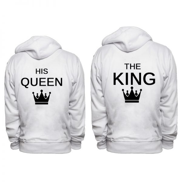 סט זוגי קפוצונים The King –  His Queen
