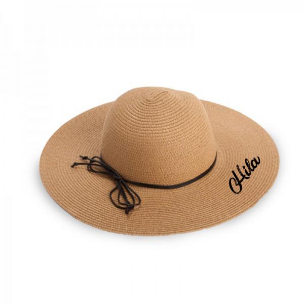 כובע קש עם שם