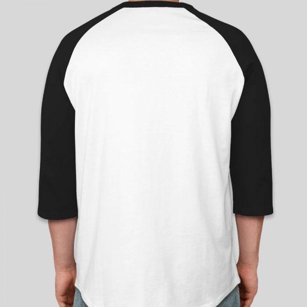 חולצה אמריקאית שרוול 3/4 לבן ושחור  [ מותג Tagos ]